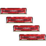 Crucial DRAM 64GB Kit (16GBx4) DDR4 2400 MT/s (PC4-19200) CL16 DR x8 Unbuffered DIMM 288pin Ballistix Sport LT DDR 4 UDIMM - Red, EAN: 649528777300