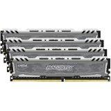 Crucial DRAM 16GB Kit (4GBx4) DDR4 2666 MT/s (PC4-21300) CL16 SR x8 Unbuffered DIMM 288pin Ballistix Sport LT DDR 4 UDIMM - Grey, EAN: 649528781642