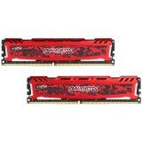 Crucial DRAM 32GB Kit (16GBx2) DDR4 2666 MT/s (PC4-21300) CL16 DR x8 Unbuffered DIMM 288pin Ballistix Sport LT DDR 4 UDIMM - Red, EAN: 649528782274