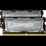 Crucial DRAM 8GB Kit (4GBx2) DDR4 2666 MT/s (PC4-21300) CL16 SR x8 Unbuffered SODIMM 260pin Ballistix Sport LT DDR 4 SODIMM - Grey, EAN: 649528781932