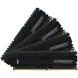 Crucial DRAM 32GB Kit (8GBx4) DDR4 3200 MT/s (PC4-25600) CL15 SR x8 Unbuffered DIMM 288pin Ballistix Elite DDR 4 UDIMM , EAN: 649528782731
