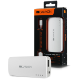 CANYON CNE-CPB44W White color portable battery charger with 4400mAh, micro USB input 5V/1A and USB output 5V/1A(max.)