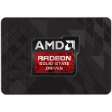 """AMD Radeon R5 SATA III 120GB SSD, 3D TLC, 2.5"""" 7mm, SATA 6 Gbit/s, Read/Write: 544 MB/s / 349 MB/s, Random Read/Write IOPS 42K/41K, PN# R5SL120G"""