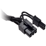 Corsair Type 4 Sleeved black PCI-E cable with pigtail connector and capacitors for Type 4 PSU (1x PCIe cable with two 6+2pin connectors)
