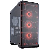 CORSAIR Crystal Series 570X RGB – Tempered Glass, Premium ATX Mid-Tower Case, Red LED lighting, compatible liquid cooling: H55, H60, H75, H80i, H90, H100i, H105, H110