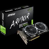 MSI Video Card GeForce GTX 1070 Ti ARMOR GDDR5 8GB/256bit, 1683MHz/8008MHz, PCI-E 3.0 x16, 3xDP, HDMI, DVI-D, ARMOR FAN X2(Double Slot), Retail