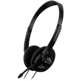 CANYON PC headset with microphone, volume control and adjustable headband, cable 1.8M, Black