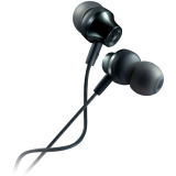 CANYON Stereo earphones with microphone, metallic shell, cable length 1.2m, Dark Gray, 22*12.6mm, 0.012kg