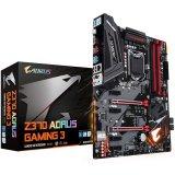 Gigabyte Gaming Main Board Desktop AORUS Intel Z370 (RGB Fusion, 4 DIMMs, 2xM.2, ALC1220 (120dB front) Killer E2500 LAN, USB 3.1 gen 2 Type-C, HDMI) ATX