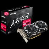 MSI Video Card AMD Radeon RX 570 OC GDDR5 8GB/256bit, 1268/7000MHz, PCI-E 3.0 x16, 3xDP, HDMI, DVI-D, ARMOR 2X Cooler(Double Slot), Retail