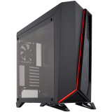 Carbide Series SPEC-OMEGA Tempered Glass Mid-Tower ATX Gaming Case - Black/Red