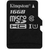 Kingston 16GB microSDHC Canvas Select 80R CL10 UHS-I Single Pack-w/o Adapter EAN: 740617275834