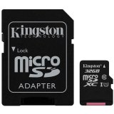 Kingston 32GB microSDXC Canvas Select Class 10 UHS-I 80MB/s Read Card + SD Adapter