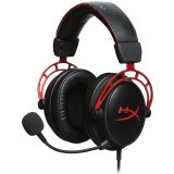 Kingston HyperX Gaming Headset, Cloud Alpha, red, 50mm drivers, 3.5mm jack, noise-cancellation microphone, aluminium frame, Audio Control Box, 1.3m + 2m extension, EAN: 740617268348