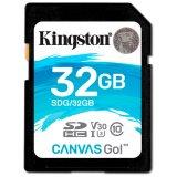 Kingston 32GB SDHC Canvas Go 90R/45W CL10 U3 V30 EAN: 740617276107