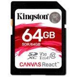 KINGSTON 64GB SDXC Canvas React 100R/80W CL10 UHS-I U3 V30 A1