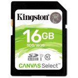 Kingston 16GB SDHC Canvas Select 80R CL10 UHS-I EAN: 740617275711