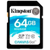 KINGSTON 64GB SDXC Canvas Go 90R/45W CL10 U3 V30