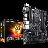 Gigabyte Main Board Desktop B360 (S1151, 4xDDR4, HDMI, DVI-D, DP, VGA, 1xPCIex16, 1xPCIex4, 1xPCIex1, 1xPCI, Intel i219V, 6xSATA III, M.2, USB 3.1, USB 2.0) mATX retail