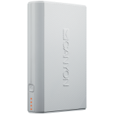 CANYON Power bank 7800mAh built-in Lithium-ion battery, 2 USB port max output 5V2A, input 5V2A. White