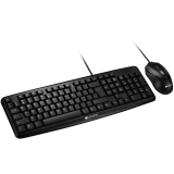 CANYON USB standard KB, water resistant AD layout bundle with optical 3D wired mice 1000DPI black
