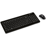 2.4GHZ wireless combo-set, keyboard 105 keys, chocolate key caps, AD layout (black); mouse adjustable DPI 800-1200-1600, 3 buttons (black)