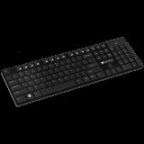 2.4GHZ wireless keyboard, 105 keys, slim design, chocolate key caps, AD layout (Black)