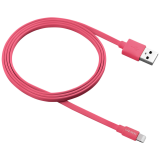 Charge & Sync MFI flat cable, USB to lightning, certified by Apple, 1m, 0.28mm, Red