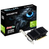 GIGABYTE Video Card NVidia GeForce GT 710 2GB GDDR5 64bit DVI-I / HDMI Low Profile passive sink