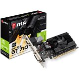 MSI Video Card GeForce GT 710 DDR3 1GB/64bit, 954MHz/1600GHz, PCI-E 2.0 x16, HDMI, DVI-D, VGA Cooler, Low-profile, Retail