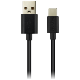 Type C USB 2.0 standard cable, Power & Data output, 5V 1A, OD 3.2mm, PVC Jacket, 1.8m,  black