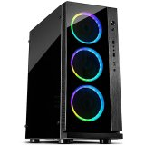 Chassis INTER-TECH W-III RGB Gaming Midi Tower, ATX, 1xUSB3.0, 2xUSB2.0, audio, PSU optional, Acrylic side panel, Tempered glass front with 3x Argus RS03 RGB-fans + remote , Dust filters, Black