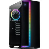 Chassis INTER-TECH S-3906 RENEGADE Gaming Midi Tower, ATX, 2xUSB3.0, 2xUSB2.0, audio, PSU optional, Tempered glass side panel, RGB LED strip in the front, RGB control board, 120mm RGB fan, Dust filters, Black
