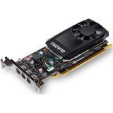 PNY NVIDIA Video Card Quadro P1000 GDDR5 4GB/128bit, 640 CUDA Cores, PCI-E 3.0 x16, 4xminiDP, Cooler, Single Slot, Low Profile (4xmDP-DP Cables, Full Size and Low Profile Bracket included) 3yr. warr. Bulk