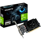 GIGABYTE Video Card NVidia GeForce GT 710 LP DDR5 1GB/64bit, 954MHz/5010MHz, PCI-E 2.0 x8, HDMI, Cooler, 1 x HDMI+DVI low profile bracket, Retail