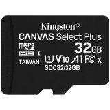Kingston 32GB micSDHC Canvas Select Plus 100R A1 C10 Single Pack w/o ADP EAN: 740617298857