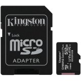 Kingston 512GB micSDXC Canvas Select Plus 100R A1 C10 Card + ADP EAN: 740617298727