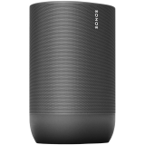 Sonos Move Black IP56 Dimensions - H9.44 x W6.29 x D4.96 in. (240 x 160 x 126 mm) Brilliant sound anywhere with the weatherproof and drop-resistant Move. Control with your voice, the Sonos app, and Apple AirPlay 2 at home, and stream via Blueto