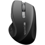 2.4Ghz wireless mouse, optical tracking - blue LED, 6 buttons, DPI 1000/1200/1600, Black pearl glossy