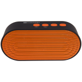 CANYON Portable Bluetooth V2.1+EDR stereo speaker with 3.5mm Aux, microSD card slot, USB / micro-USB port, bulit in 300mA battery, Black and Orange
