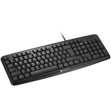 CANYON Wired Keyboard, 104 keys, USB2.0, Black, cable length 1.3m, 443*145*24mm, 0.37kg, Adriatic