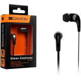 Canyon essential earphones, flat anti-tangling cable, black